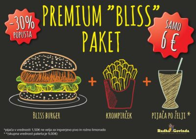 bliss burger paket